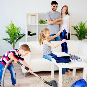 Family cleaning - fun family activities - covid19